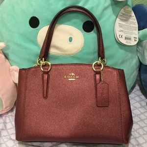 coach maroon purse